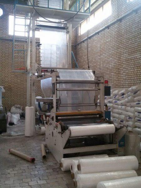 دستگاه تولید نایلون عرض ۱۱۰ چینی