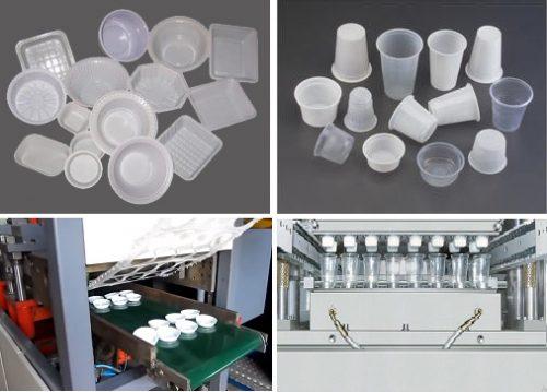 دستگاه نیمه فرمینگ جهت ساخت انواع ظروف یکبار مصرف PS و PP - تولید لیوان نشکن مقاوم